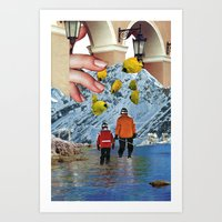 We went fishing Art Print