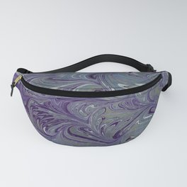 Purple, Blue, & Green Marbled Fanny Pack