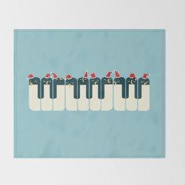The Penguin Choir Throw Blanket