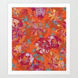 Carnation Carnival Art Print