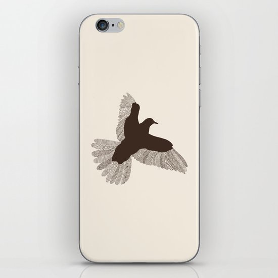 Bird (On Beige) iPhone & iPod Skin