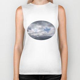 Dove in Clouds Biker Tank