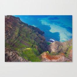 Na Pali Coast Detail, Kaua'i, Hawai'i Canvas Print