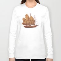 fantasy Long Sleeve T-shirts featuring Winged Odyssey by Terry Fan
