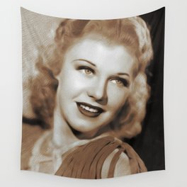 Ginger Rogers, Actress, Dancer Wall Tapestry