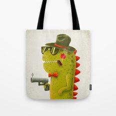 Dino bandito (olive) Tote Bag