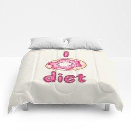 I Donut Diet - cute food illustration Comforters