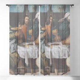 "Tintoretto (Jacopo Robusti) ""The Supper at Emmaus"" Sheer Curtain"