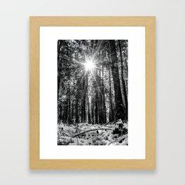 The Snow Melts Framed Art Print