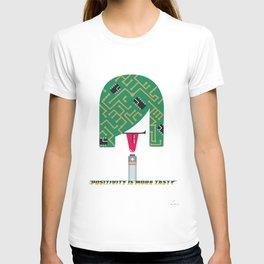 Digital Girl : Positivity is more tasty T-shirt