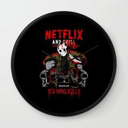 Jason voorhees netflix and chill kill ice nine kills halloween Wall Clock
