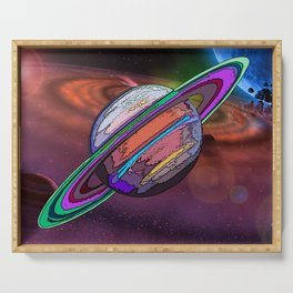Graphically Saturn Serving Tray