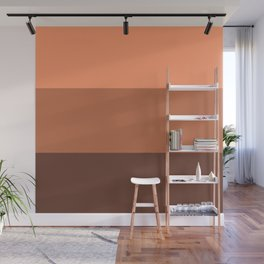 Peach Gradient Pattern Wall Mural