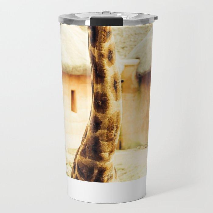 Yellow Giraffe Travel Mug