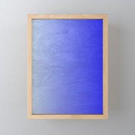 Blue Ice Glow Framed Mini Art Print