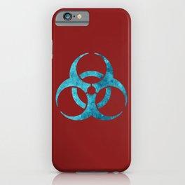 Blue Biohazard Symbol iPhone Case