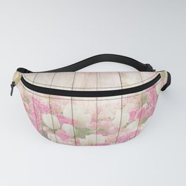 Beautiful Pink Tulip Floral Vintage Shabby Chic Fanny Pack