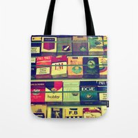 cigarette Tote Bags featuring cigarette collection by gzm_guvenc