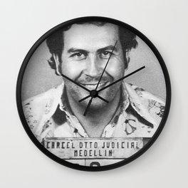 PABLO ESCOBAR MUGSHOT Wall Clock