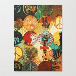Peace, Love and Thinkin´ Canvas Print