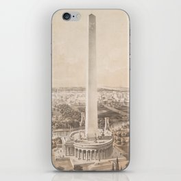Vintage Pictorial Map of Washington DC (1852) iPhone Skin