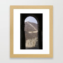 A glimpse of a great wall Framed Art Print