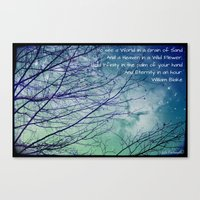 poem Canvas Prints featuring Favorite Poem... by Julia Kovtunyak