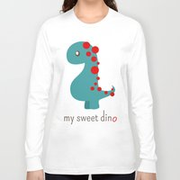 dino Long Sleeve T-shirts featuring Dino by Jane Mathieu