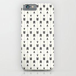 Modern simple black white bohemian arrows iPhone Case