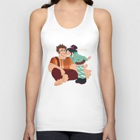 wreck it ralph Tank Tops featuring Ralph & Vanellope by Violet's Corner