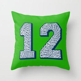 Go Hawks 12_2 Throw Pillow