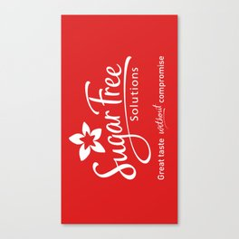 Sugar Free Solutions Logo Canvas Print
