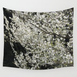 Blooming wild plum Wall Tapestry