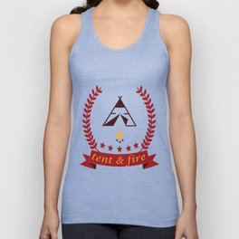 Tent and Fire Unisex Tank Top