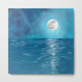 Mar Luna + Donation for Marine Conservation Metal Print