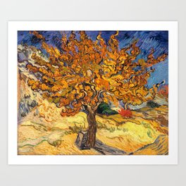 The Mulberry Tree by Vincent van Gogh Art Print