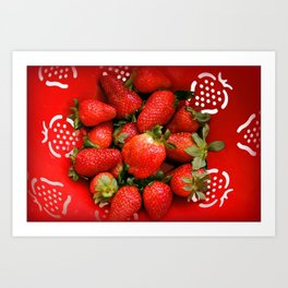 Strawberries forever Art Print
