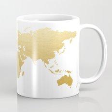 Gold Map Print Mug