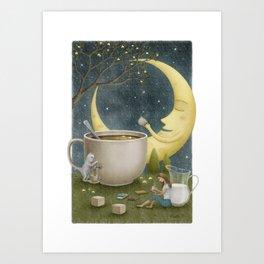Midnight Coffee Art Print
