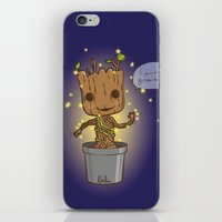 groot iPhone & iPod Skins featuring Groot by Lalu - Laura Vargas