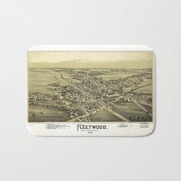 Aerial View of Fleetwood, Pennsylvania (1893) Bath Mat