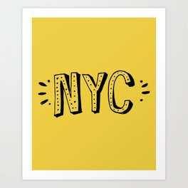 NYC lettering series: #2 Art Print