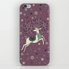 Prancing Reindeer iPhone Skin