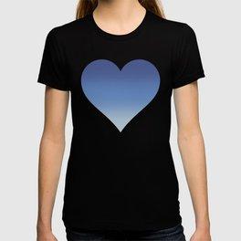 Pantone Classic Blue, Provence Blue and Baby Blue Gradient Ombré T-shirt