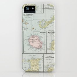 Vintage Map of Various Tropical Islands (1901) iPhone Case