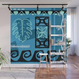 Hawaiian Pattern #1 - aqua! Wall Mural