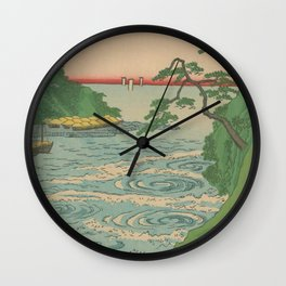 Sea. Ukiyoe Landscape Wall Clock