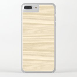 Maple Wood Texture Clear iPhone Case