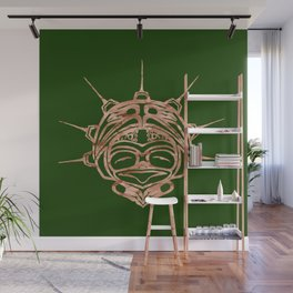 Copper Frog Grass Wall Mural