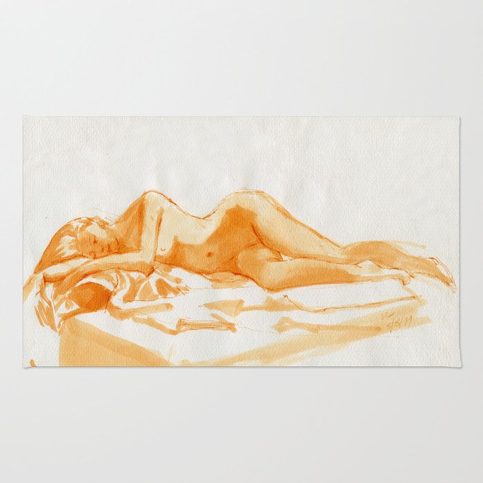 Reclining nude Rug